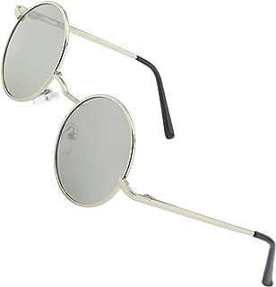 94b870da64 CGID E01 Estilo Vintage Retro Lennon inspirado círculo metálico redondo  gafas de sol polarizadas para hombres