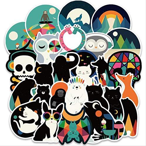 KEJIA Pegatinas de Dibujos Animados, Pegatinas Coloridas de Animales, Juguetes clásicos de PVC, álbum de Recortes para niños, Pegatina para Cuaderno, Regalo para niños, 100 Uds.
