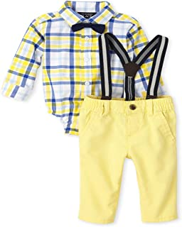 The Children's Place Baby Boys' Long Sleeve Pant Set