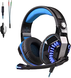 PS4 Headset Gaming Headset for PC Xbox One Headphones with Mic Headset for Gaming Computer(Blue)
