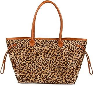 Weekender Travel Bags Duffel Leopard Print Overnight Tote Traveling Bag (Leopard)