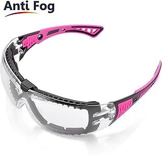 5867b44327 Gafas de Seguridad Para Mujer,con Cinta Ajustable,Gafas Protectoras Rellena  de Espuma,