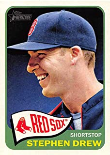 2014 Topps Heritage Baseball #46 Stephen Drew Boston Red Sox Official MLB Trading Card