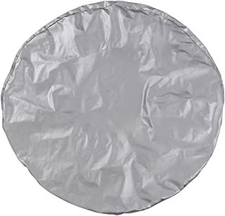 RuleaxAsi 1# Silver Color Waterproof oxford & cotton wool lining fabric Tire cover Fits for RV Auto Truck Car Camper Trail...