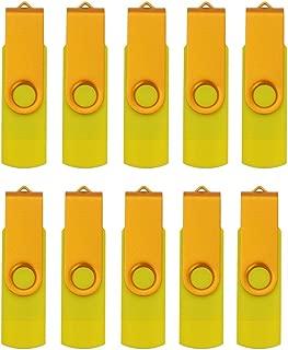 FEBNISCTE 10pcs Yellow Micro 32GB +USB 3.0 OTG Flash Drive for Android