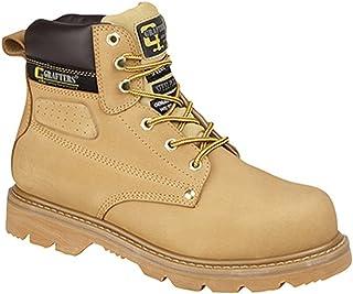 Grafters Bottes de Sécurité pour Hommes Gladiateur Chaleur Huile Resist Confortable Cuir Chaussures Travail