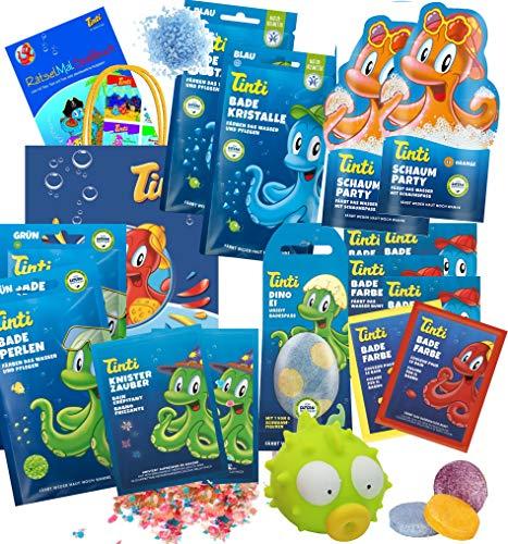 Tinti Planschtüte XL mit Dino-Ei für Jungs oder Feen-Ei für Mädchen (Jungs)