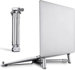 Portable Laptop Stand, Tendak Foldable Notebook Holder Mount for MacBook Pro, Aluminum Desk Adjustable Compact Universal C...