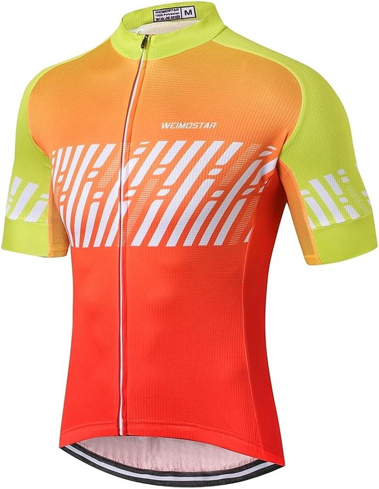 Cycling Jersey Men, Men's Mountain Bike Shirt Short Sleeve Tops S-5XL