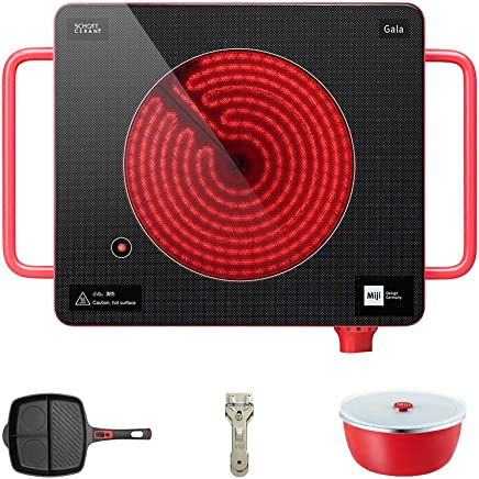德国米技Miji cube3 单圈2100W电陶炉(送:厨具套装) 家用便携式光波炉电磁炉养生茶炉