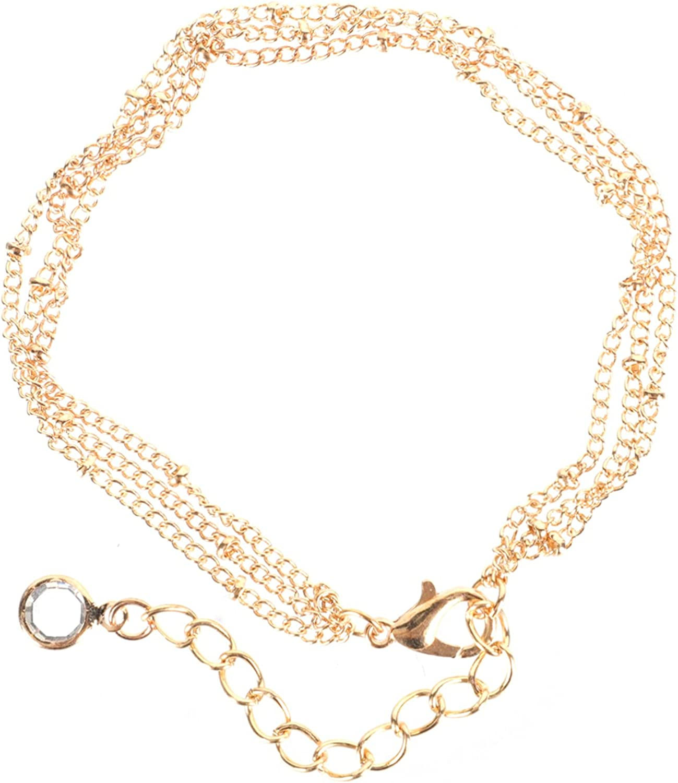 Generic Layered Gold Bracelet Stackable Bangle Chain Tiny Link Bracelet for Girls Women