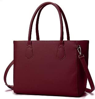 Brenice Women Casual Shopping Multifunction Handbag Solid Shoulder Bag