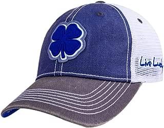 Black Clover Blue/Grey/White 2-Tone Vintage #10 Snapback Hat