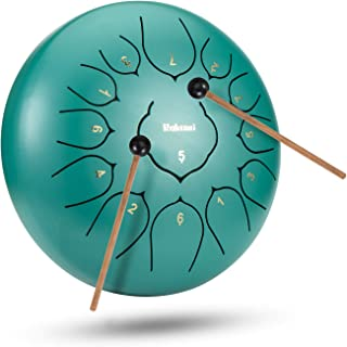 12 Inch 13 Note Steel Tongue Drum Percussion Instrument Lotus Hand Pan Drum with Drum Mallets Carry Bag