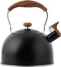 HEXLONG Czajnik gwizdek czajnik ze stali nierdzewnej płaski spód czajnik odporny na ciepło uchwyt przeciwoparzeniowy z odw...