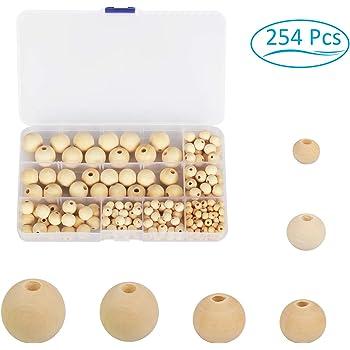 100pcs Round Wooden Beads Plain Natural Wood Handmade Jewelry Craft 6mm 10mm