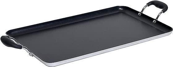 IMUSA USA IMU-1814 Double Burner Griddle Non-Stick 17-Inch, Black