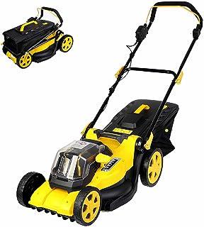 BKWJ Tondeuse à Gazon électrique rotative, Largeur de Coupe de 40 cm, Tondeuse à Gazon sans Fil de 40 V avec Batterie et C...