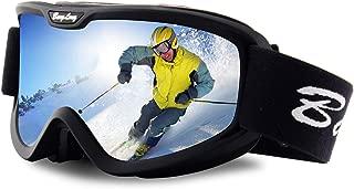 BangLong Ski Goggles, Snowboard Goggles Over Glasses Snow Goggles Anti Fog UV Protection OTG Design for Men Women Skating, Skiing, Snowmobile, Cycling