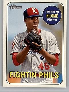 2018 Topps Heritage Minor League #104 Franklyn Kilomé MLB Baseball Card NM-MT