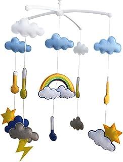 Jouets Hanging Creative, Lit Rotatif Mobile, [Thème Météo Design]