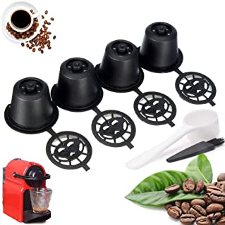 Clearance 🔥Tuscom 4Pcs Refillable Reusable Coffee Capsules Pods for Nespresso Machines Spoon (Black)