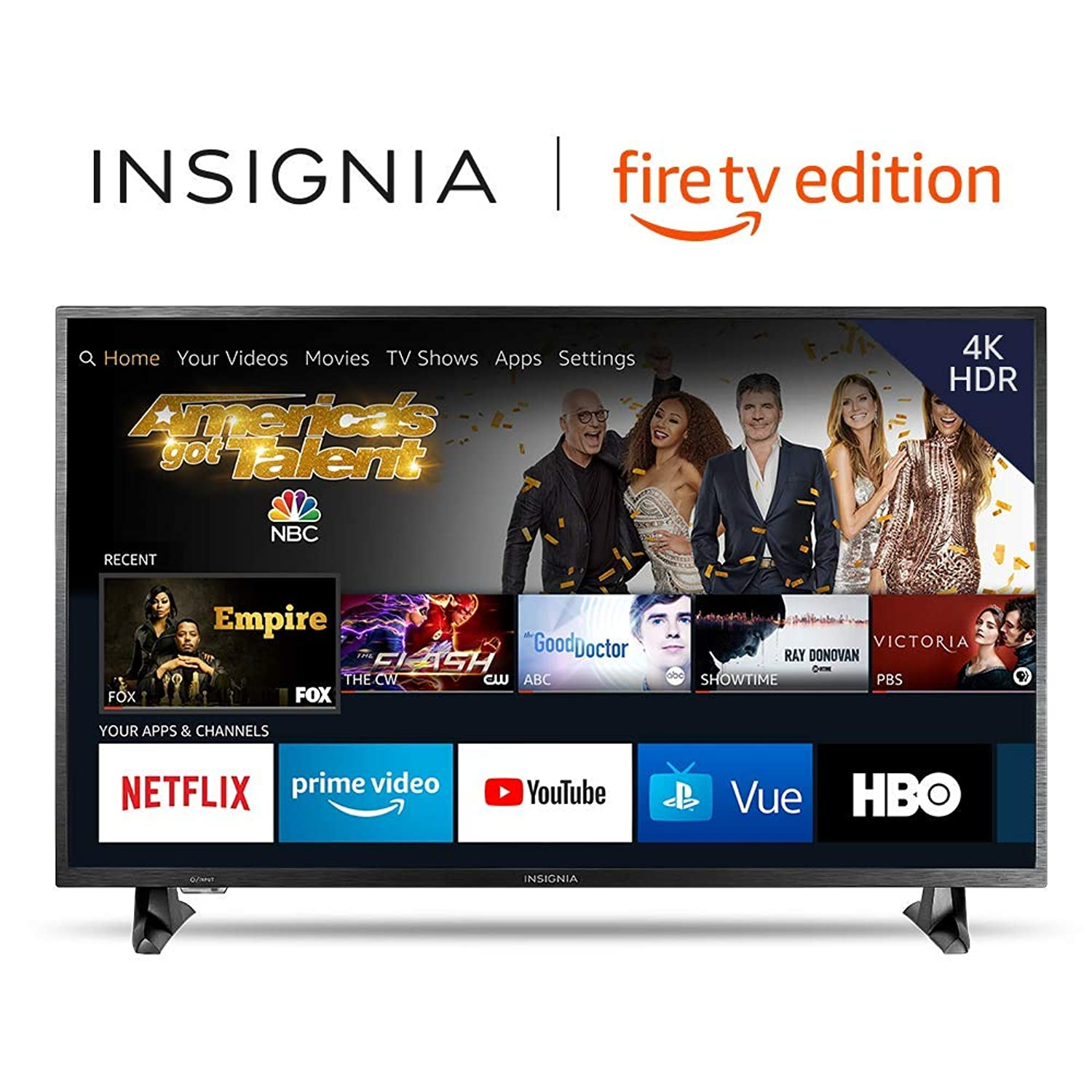 Insignia NS-50DF710NA19 50-inch 4K Ultra HD Smart LED TV HDR - Fire TV Edition zbczyt6638122