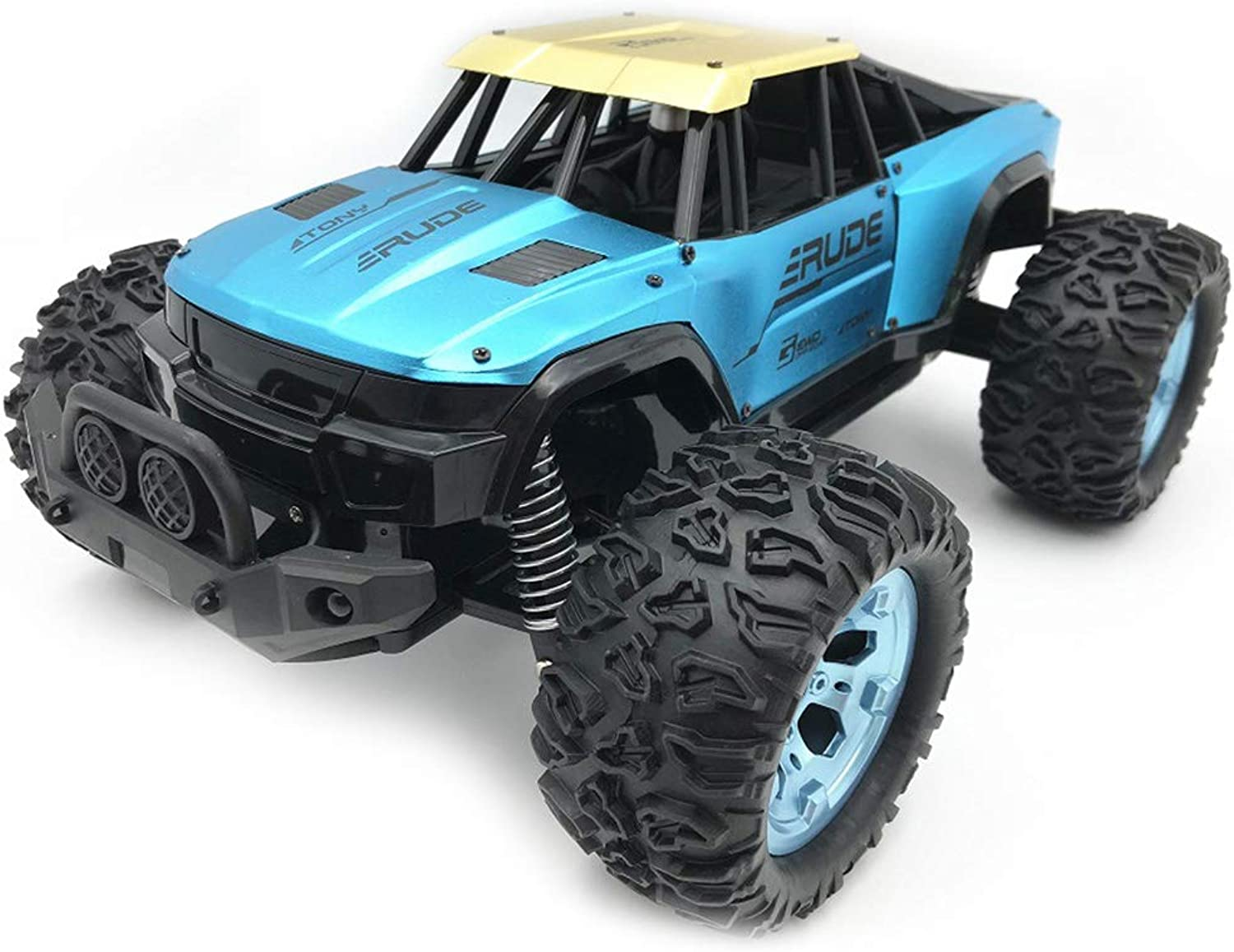 Generic Jule UJ992211B 1 12 High Speed OffRoad RC Car Alloy Remote Control RC Vehicle Toy Remote Control Car Toys for Kids Gift Toy Dodger bluee