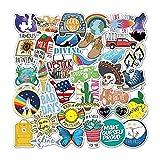 MENGYUE 35 Uds Pegatinas de Anime para niños Estilo clásico de Moda Graffiti Pegatinas de Vinilo en el teléfono portátil Pegatina de Coche para Cuadernos