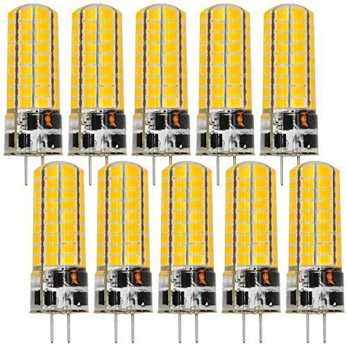 MENGS - 10 bombillas LED G4 6 W, luz blanca fría, 6500 K CA/CC 12 V, 72 x 5730 SMD, con revestimiento de silicona