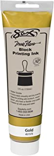 Sax True Flow Water Soluble Block Printing Ink - 5 Ounce Tube - Gold - 461978