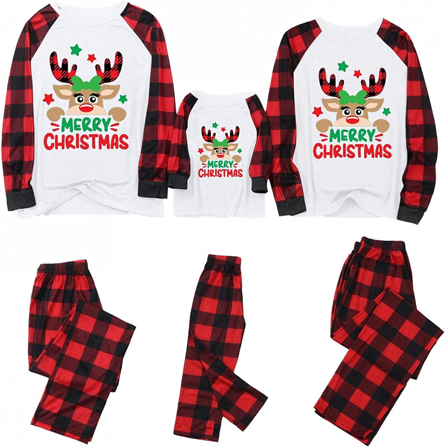 Family Matching Pajamas Sets Holiday Elk lowest price Merry Cute Outfits Max 56% OFF Chri