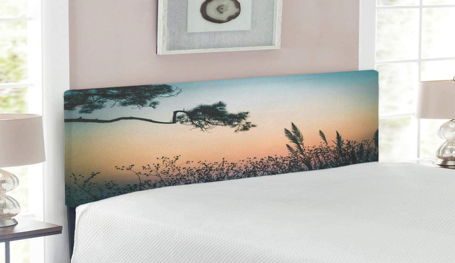 Ambesonne Popular brand in the world Landscape Headboard Thailand Phurue Sunset S Scene All items in the store