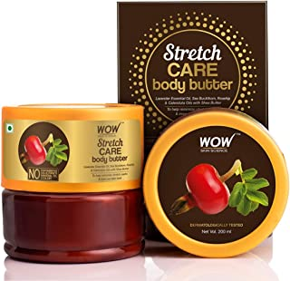 WOW Skin Science Stretch Care Body Butter for all skin type - No Parabens, Silicones, Mineral Oil and Color, 200 ml