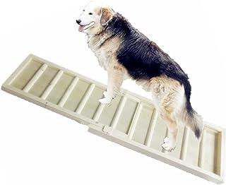 ペットスロープ ペットステップ 木製 スライド式 伸縮自由 ケガ ヘルニア予防 ソファ/ベッド/玄関/ドライブ/庭に適用
