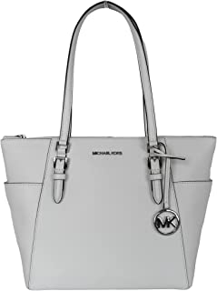 Michael Kors Damen 35T0SCFT3L-Optic-White Sling Bag, Weiß, Normal