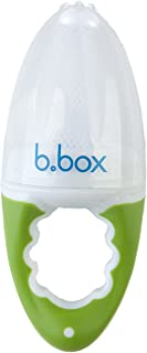 b.box Fresh Food Feeder   For Babies 4 months + to Explore New Foods   Fill With Frozen Food for Teething Relief   Color: Apple   BPA-Free   Phthalates & PVC Free   Dishwasher Safe