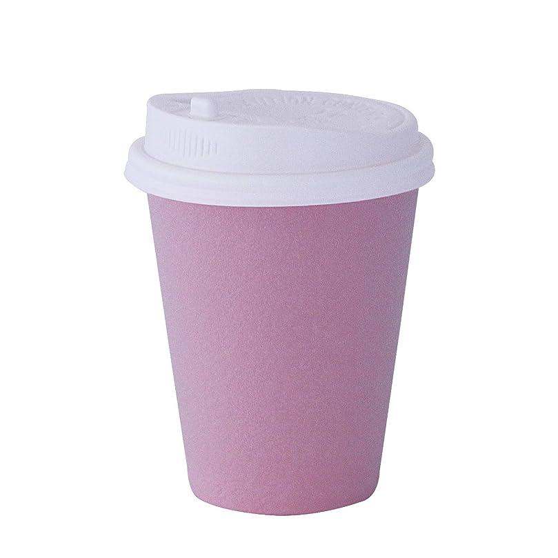 フィヨルド形式不毛発泡耐熱紙コップ【8オンス 240ml】 白ふた付/1000組 ピンク