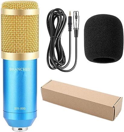 NanYin Kit Microfono per condensatore Professionale BM-800: Microfono per Computer + Shock Mount + Blister + Cavo BM 800 Microfono BM800 (Color : Package2 Blue) - Trova i prezzi più bassi