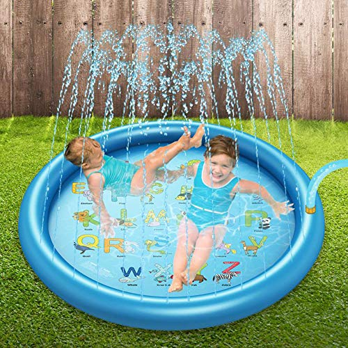 XXCLZ Inflable del Aerosol de Agua de Verano los niños juegan Juegos de césped Agua Mat Pad de riego Divertido Juego Juguetes Piscina al Aire Libre 168cm,168 * 168CM