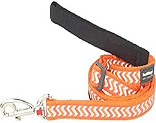 Red Dingo Reflective Ziggy Dog Lead, Large, Orange