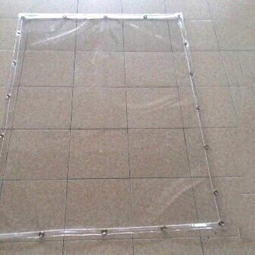 Garden - tarpaulin Tissu Transparent en Plastique bache bache Balcon Pare-Brise Tissu résistant à la Pluie PVC Plastique Souple Transparent, différentes Tailles 600G   M2