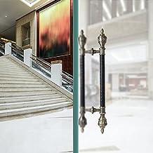 Deurklink Europees Retro Staafhandvat, Luxe Deurklink voor Lobby Auditorium Sterren Hotels, Groot Vintage Tweevoudig Deurh...