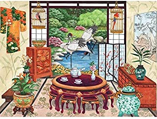 Bits and Pieces 1000 Pedazos del Rompecabezas de Rompecabezas para Adultos té japonés habitación 1000 Jigsaw por Artista Parker Fulton