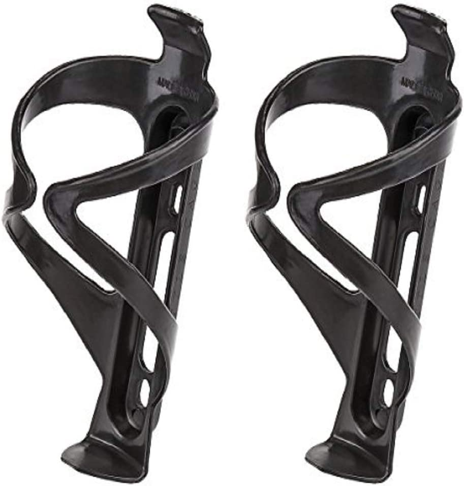 Bike Water Bottle Cage Black A No Lost Bottles Mountain and BMX Bikes Lightweight and Strong Bicycle Bottle Holder Secure Retention System Great for Road 2pcs Bicycle Bottle Cage