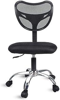 Chaise de jeu MHIBAX Chaise d'ordinateur de bureau de bureau, chaise pivotante sans accoudoirs, siège en maille, fauteuil ...
