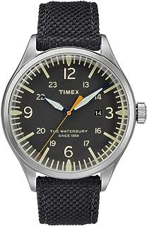 Waterbury Black Dial Canvas Strap Men's Watch TW2R38500