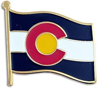 PinMart Colorado US State Flag CO Enamel Lapel Pin 1