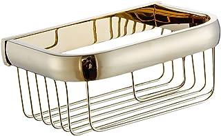 浴室用ラック バスルーム シャワージェル バス用品 オーガナイザー ティッシュコンテナ ゴールド 真ちゅう 実用的 便利グッズ