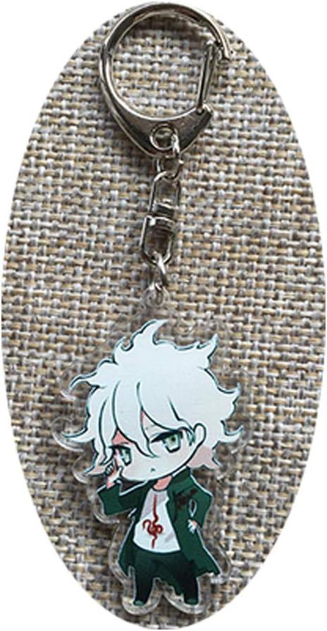 Davrcte Danganronpa Komaeda Nagito Key Chains Acrylic Keychain Keyring Cute Key Buckle Anime Key Pendant Acrylic Key Charms